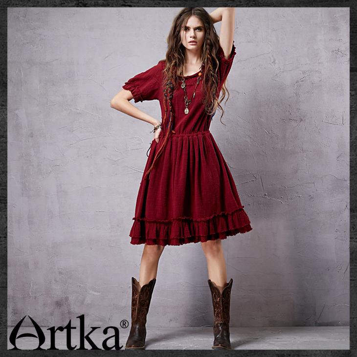Платье artka красное