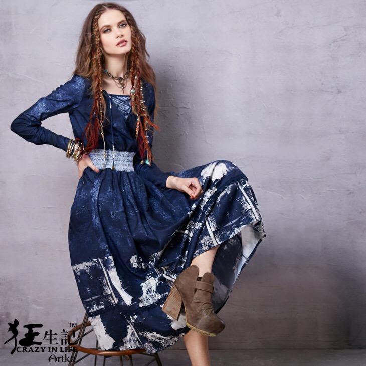 Artka платье с принтом