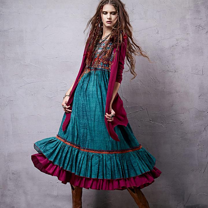 Artka платье Мексика с воланами