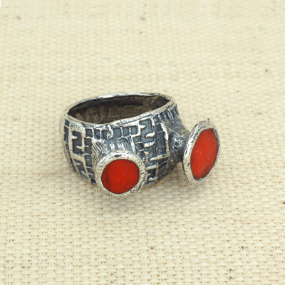 Кольцо Солнцеворот серебряное Вулкан счастья