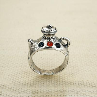 Кольцо Солнцеворот Чайник с эмалью