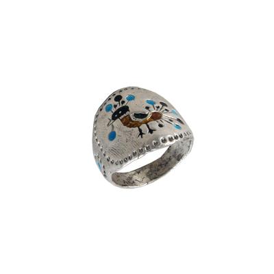 Кольцо Солнцеворот серебряное Пава