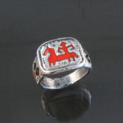 Кольцо Солнцеворот Красный всадник