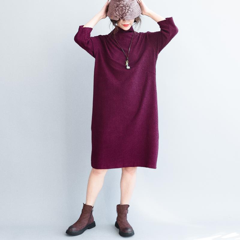 Qingzhuo свободные платья на осень и зиму