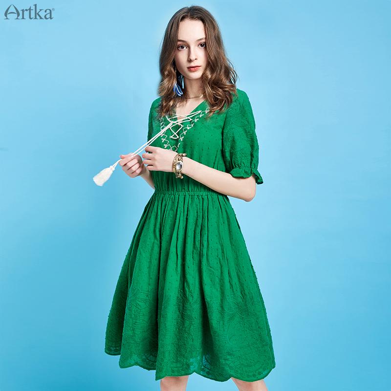 Artka ретро платье с вышивкой