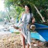 MOK пляжное платье с кружевом