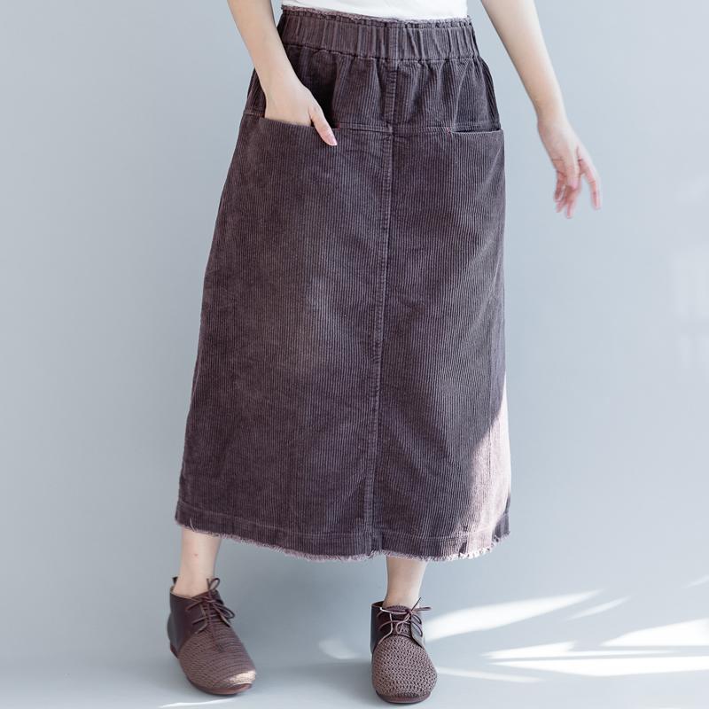 QINGZHUO вельветовая юбка
