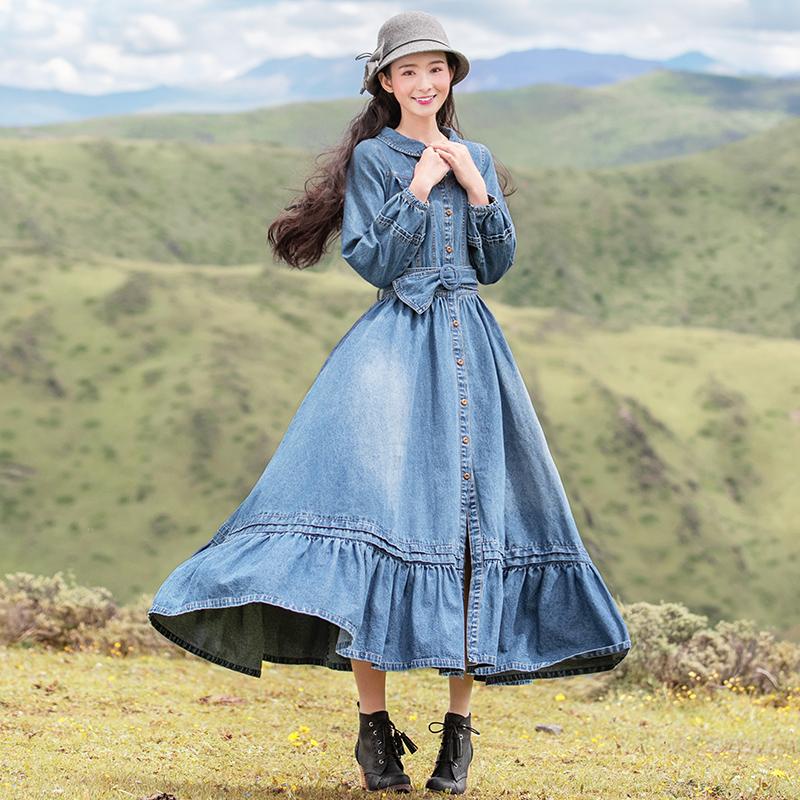 Boshow джинсовое платье