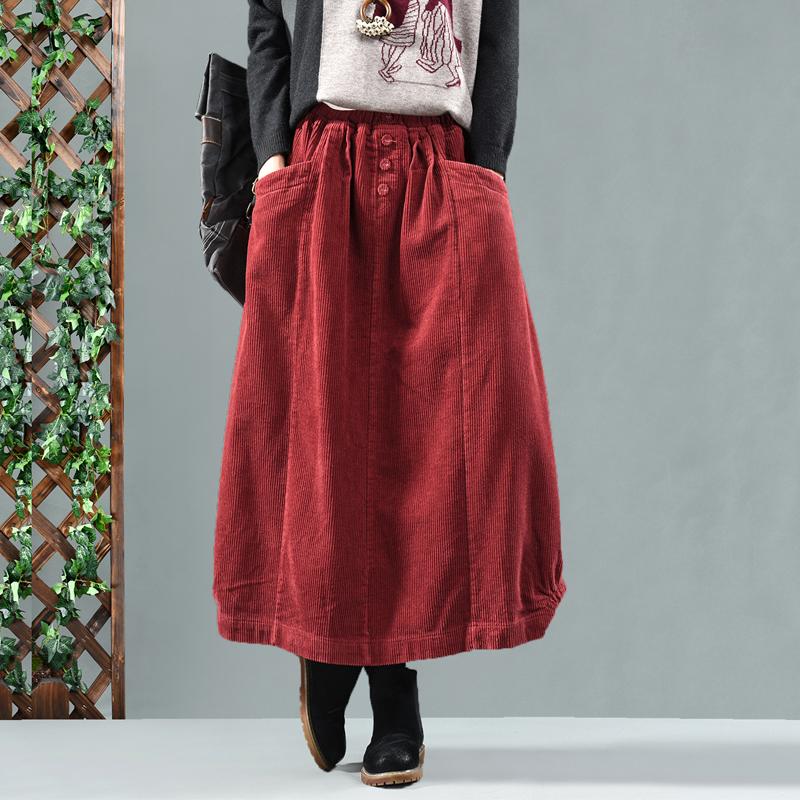 Young times вельветовая юбка с пуговицами