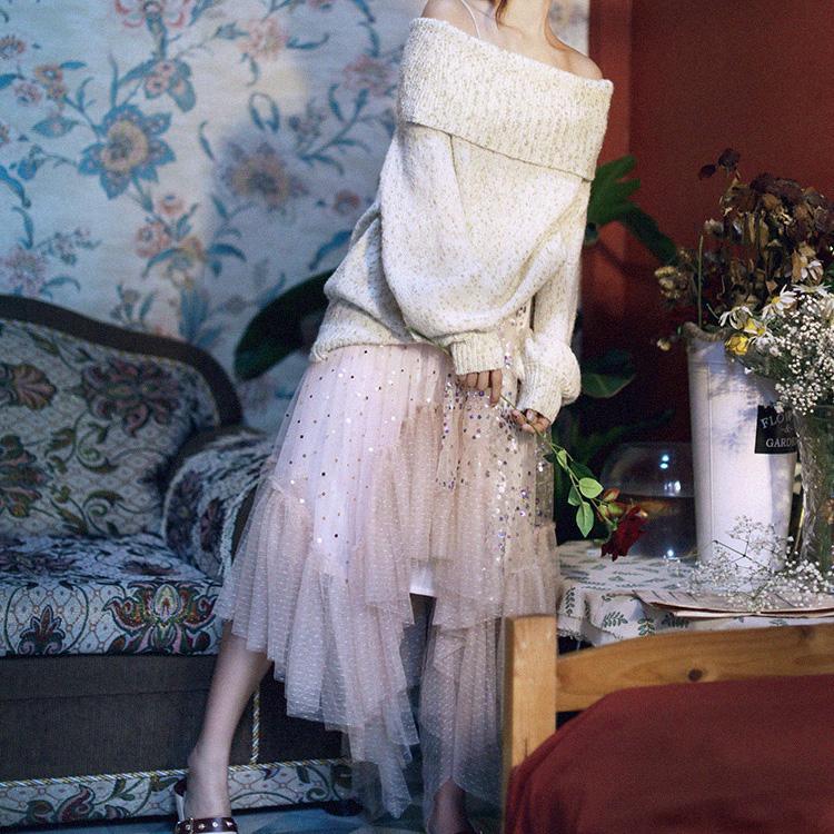 MOK юбка с паетками