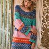 Liebo вязаное цветное платье