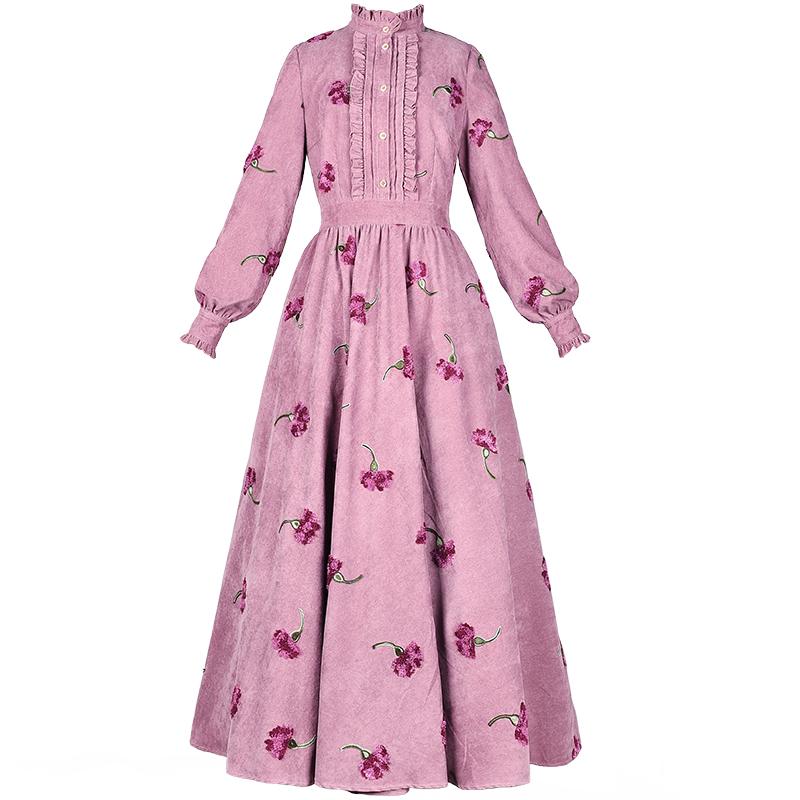 Boshow ретро платье с вышивкой