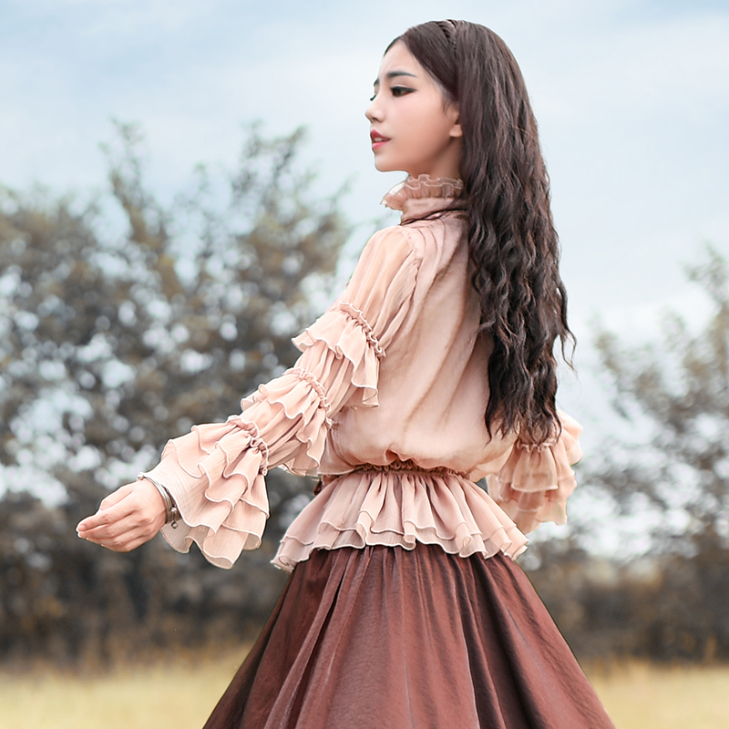 Boshow блуза в оборках