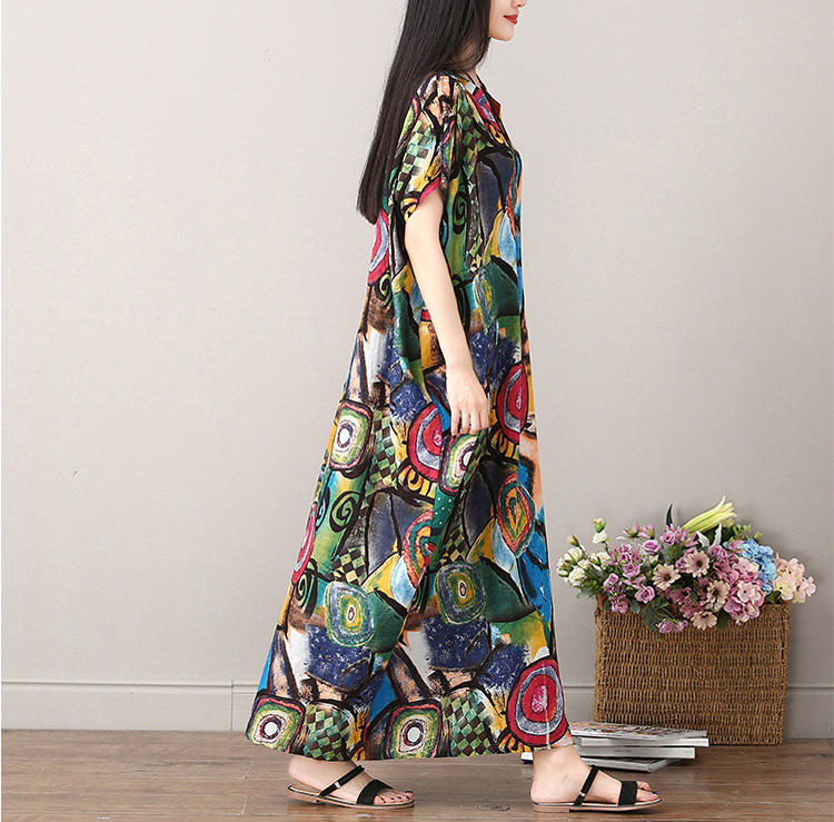 Wuxi платье тибетский принт
