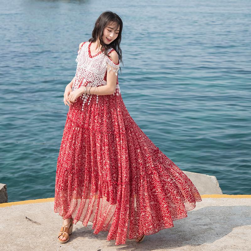 Boshow платье с кружевами