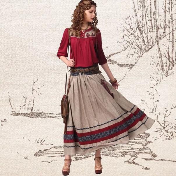 Artka юбка с вышивкой (шоу-рум)