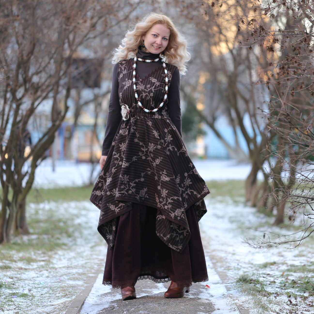 Nata Schu платье-сарафан в стиле бохо