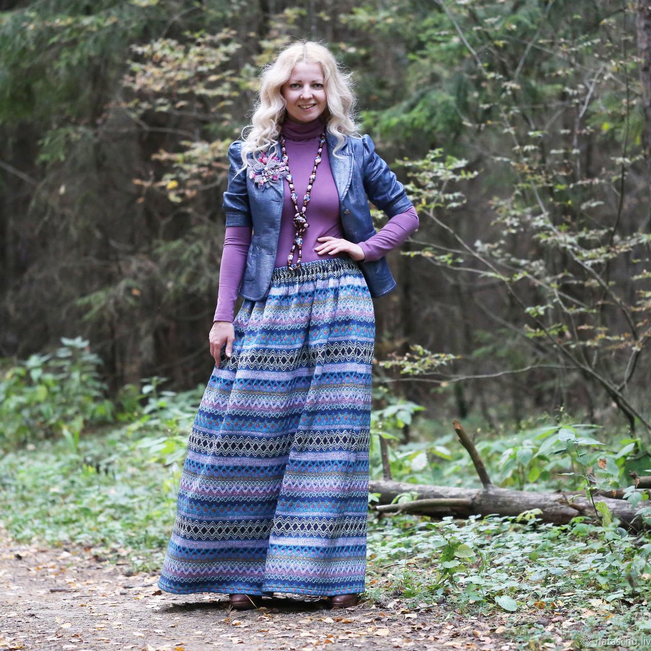 Nata Schu юбка тёплая в этно стиле