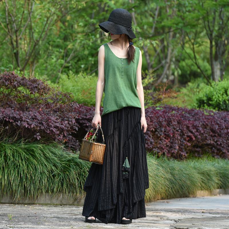 Suxin многослойная юбка в полоску
