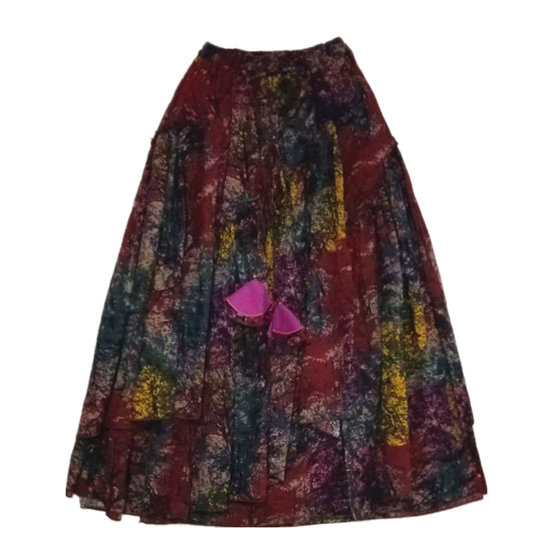 Suxin многослойная юбка пёстрая
