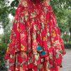 Suxin многослойная юбка яркая с цветами