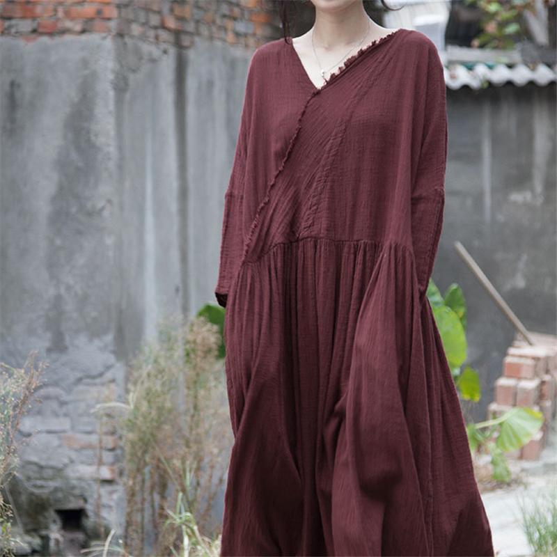 свободное платье из хлопка (1)