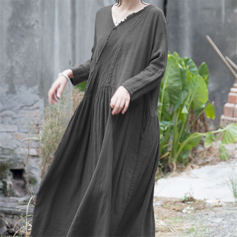 Свободное платье из хлопка