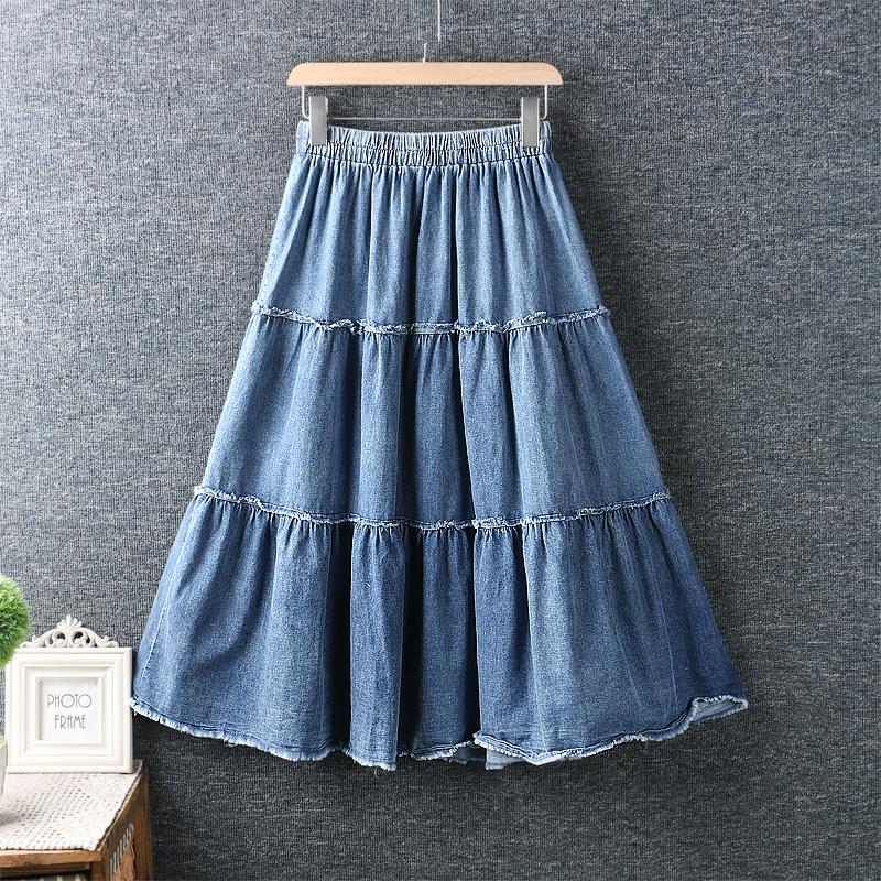 Left-Lefty джинсовая юбка ярусная