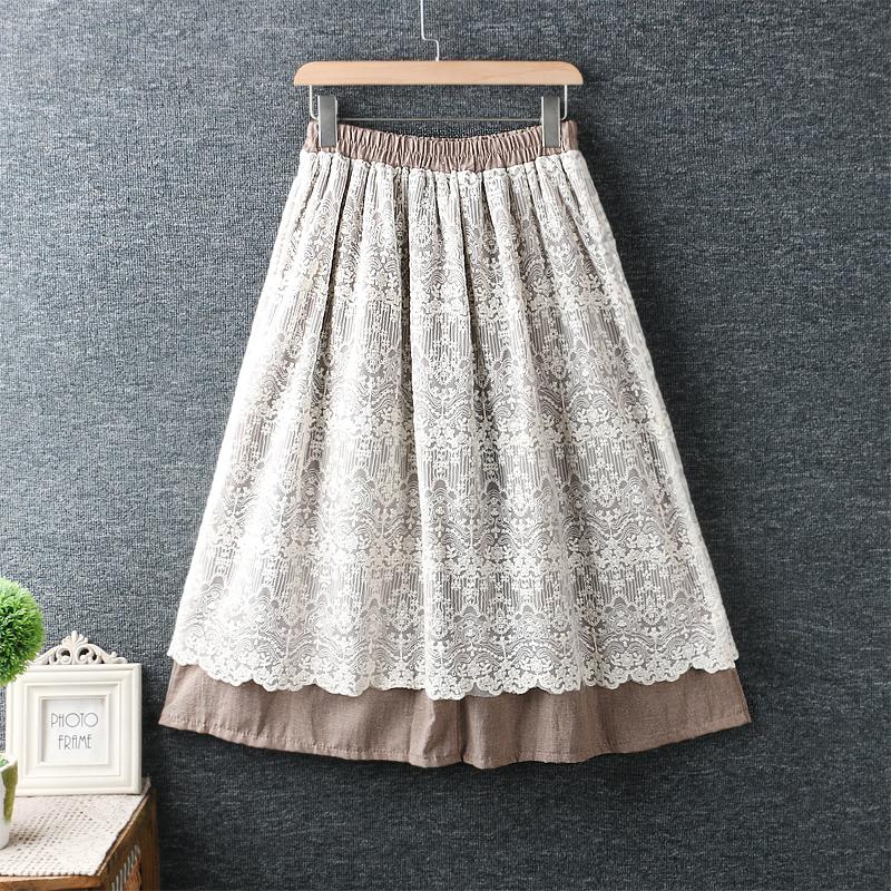 Left-Lefty юбка двойная кружевная (1)