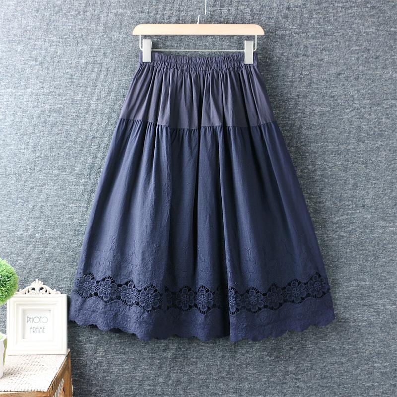 Left-Lefty юбка однотонная с кружевом
