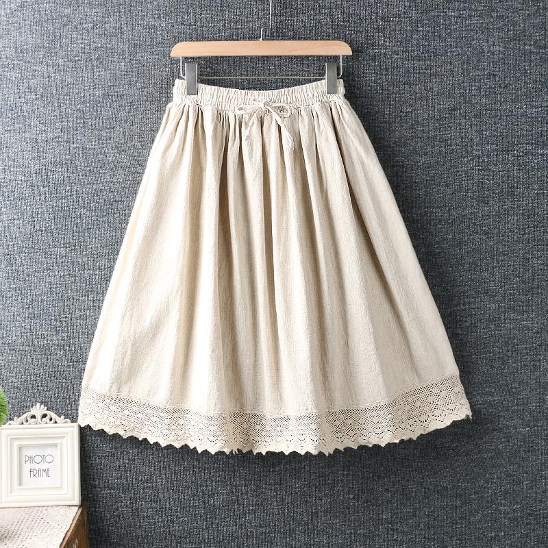Left-Lefty юбка с кружевом на подоле