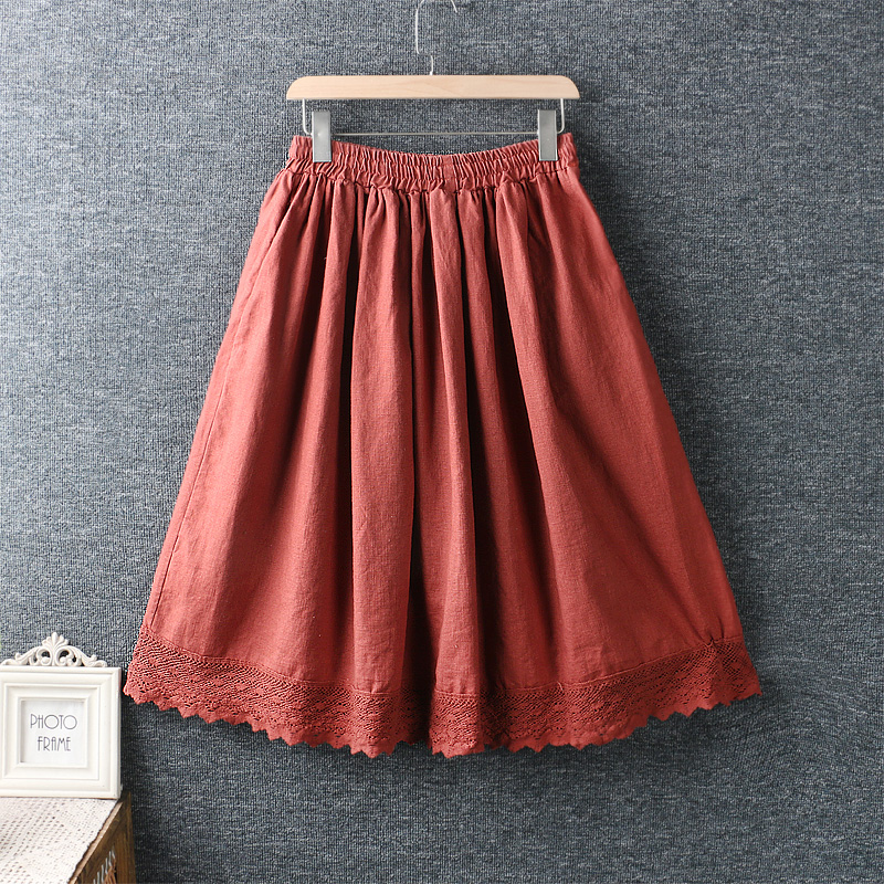 Left-Lefty юбка с кружевом на подоле (2)