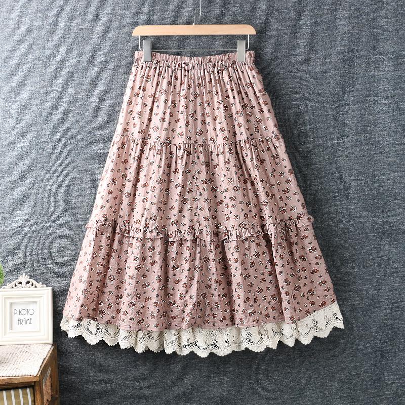 Left-Lefty юбка ярусная в цветочек