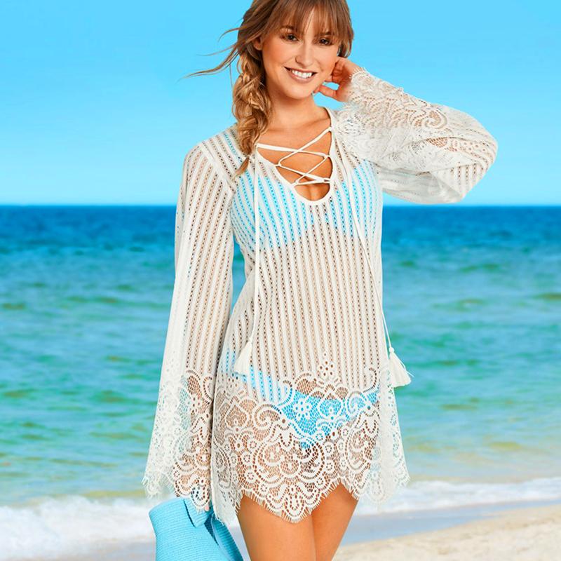 пляжная кружевная туника (1)