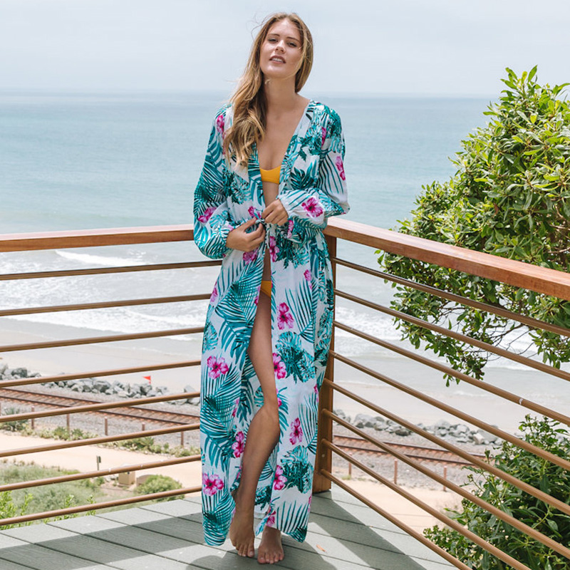 пляжные длинные платья