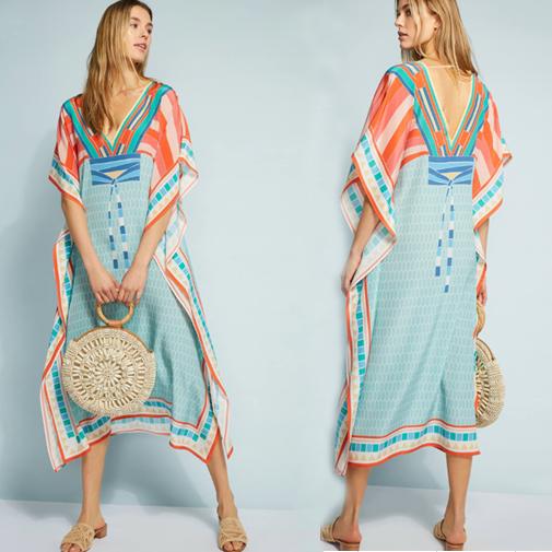 пляжные цветные платья (5)