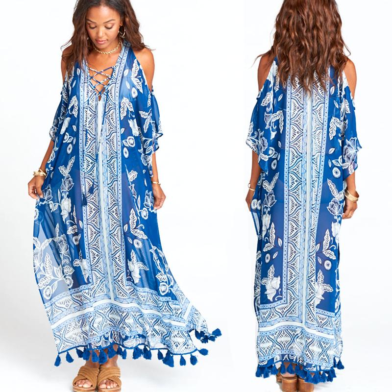 пляжные цветные платья