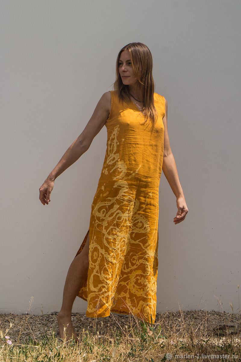 MarlЁn длинное льняное платье