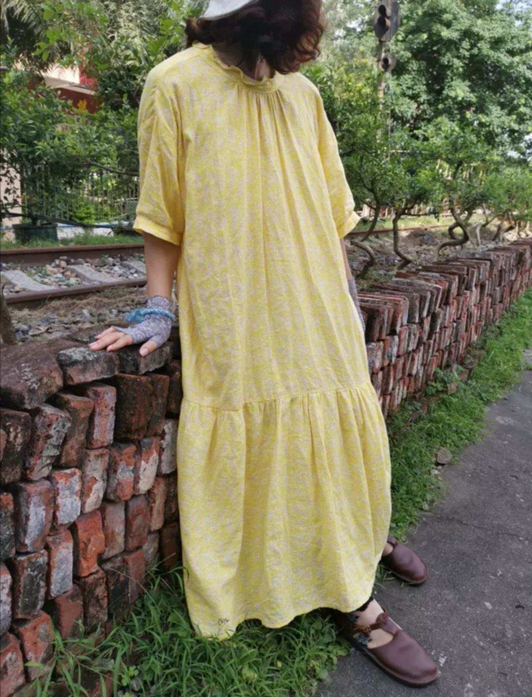 Blue yingsu платье жёлтое