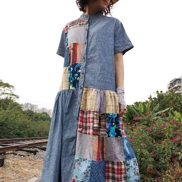Blue yingsu платье комбинированное (1)