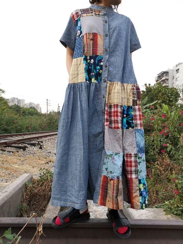 Blue yingsu платье комбинированное
