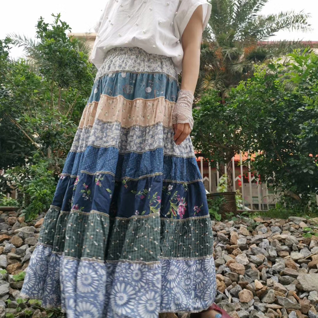 Blue yingsu юбка многоярусная