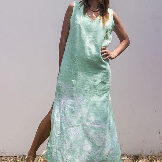 MarlЁn мятное льняное платье (1)