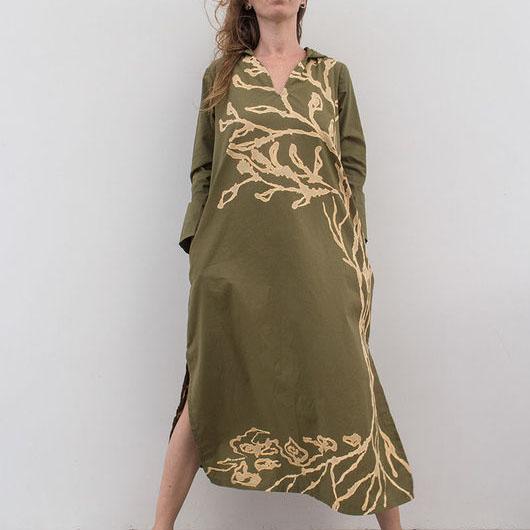 MarlЁn платье с капюшоном цвета хаки (1)
