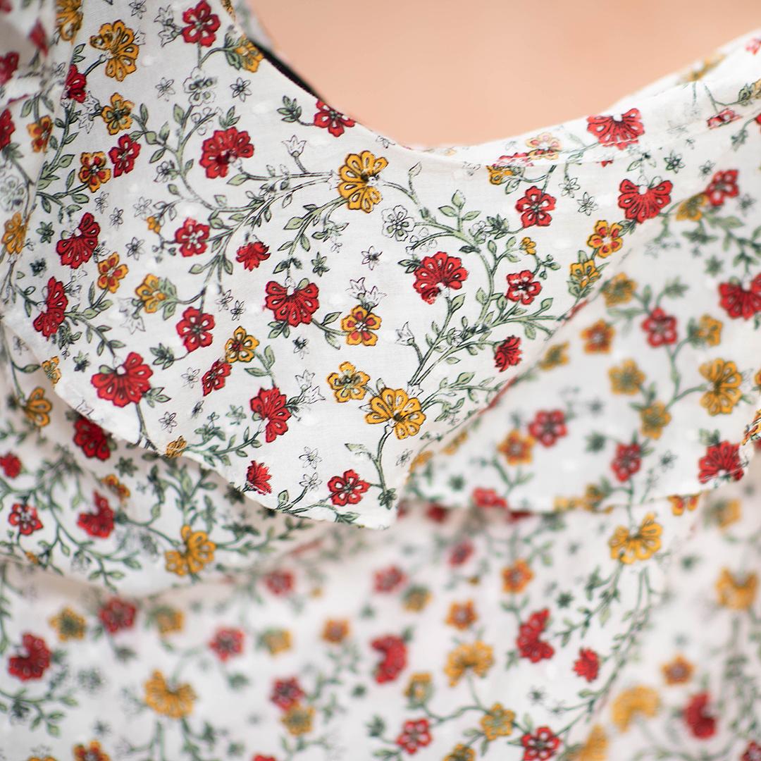 Fat face блуза с открытым плечом