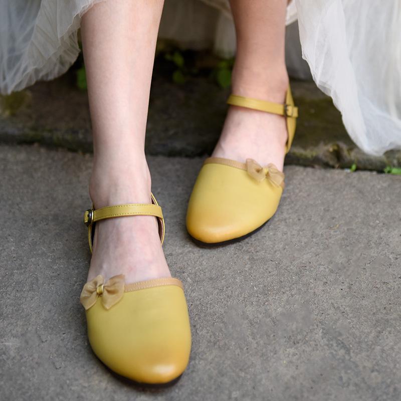 Artmu ретро туфли с бантиком (1)