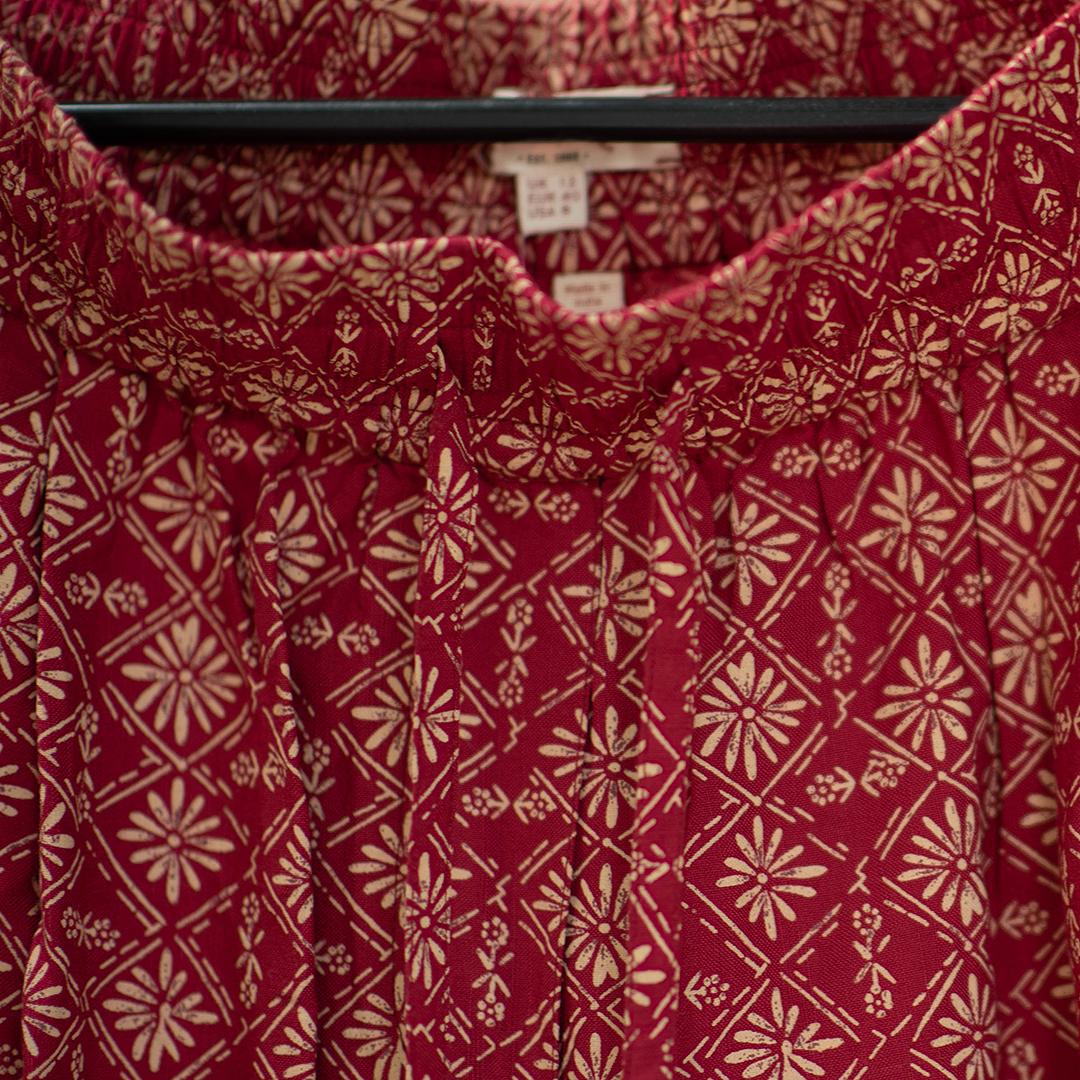 Fat face шорты красные с узорами (шоу-рум)