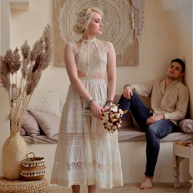WonderMary свадебное БОХО платье кружевное