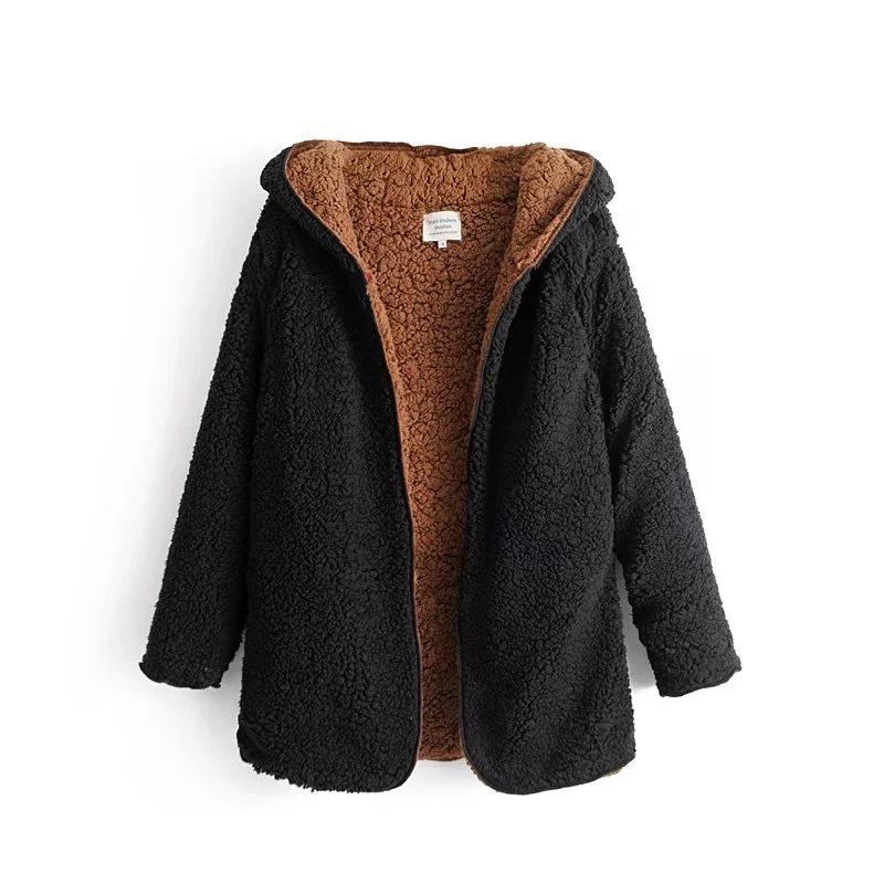 Findit двустороннее пальто с капюшоном
