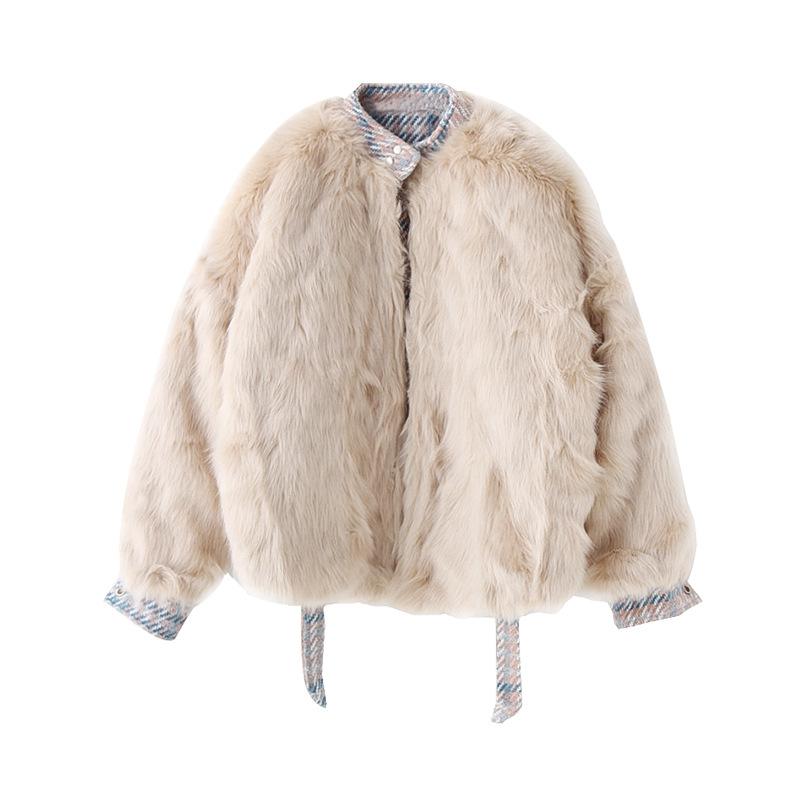 Findit меховая куртка в клетку